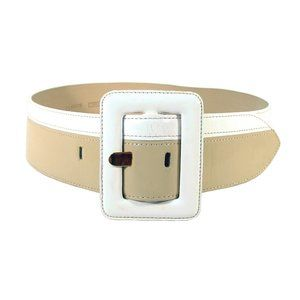 CARLISLE Wide Curved Patent Leather Belt S - USA